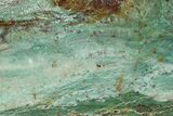 "6.4"" Polished Fuchsite Chert (Dragon Stone) Slab - Australia - #70846-1"