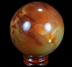 "2.3"" Colorful Carnelian Agate Sphere - Madagascar For Sale, #70934"