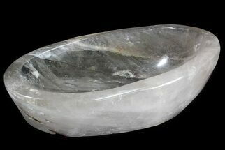 "18"" Wide Polished Quartz Bowl - Madagascar For Sale, #71390"