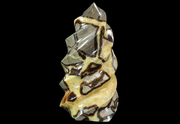 "11.1"" Polished Septarian ""Twist"" Sculpture - 13 lbs"