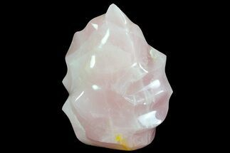 "Buy 7"" Tall Polished Rose Quartz Flame Sculpture - #71401"
