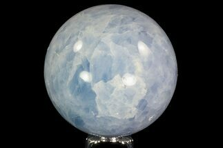 "3.35"" Polished Blue Calcite Sphere - Madagascar For Sale, #74459"