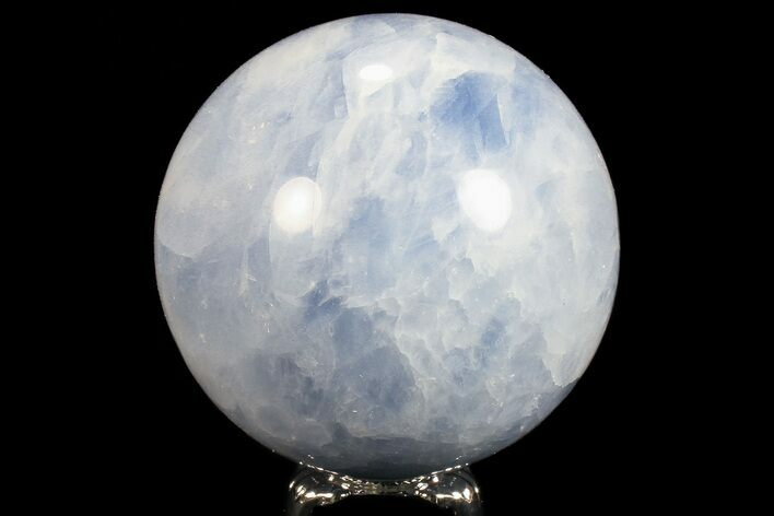 "2.8"" Polished Blue Calcite Sphere - Madagascar"