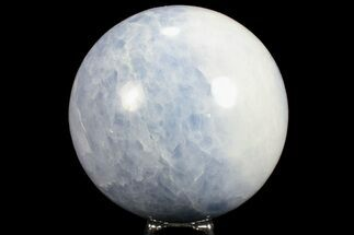 "Buy 3.75"" Polished Blue Calcite Sphere - Madagascar - #74452"