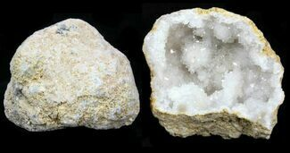 "3-4"" Unopened Quartz Geode From Morocco - 3 Pack For Sale, #75704"