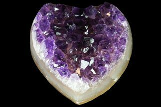 "2.8"" Purple Amethyst Crystal Heart - Uruguay For Sale, #76784"