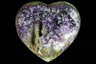 "Buy 3.6"" Purple Amethyst Crystal Heart - Uruguay - #76777"