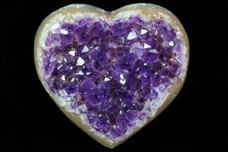 "Buy 4.4"" Purple Amethyst Crystal Heart - Uruguay - #76807"
