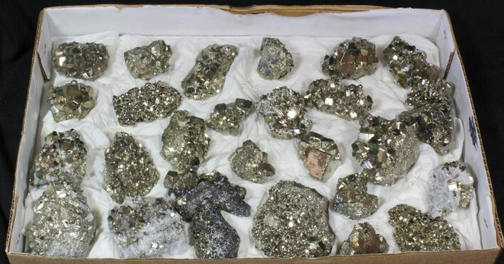 Wholesale Lot - High Quality, Peruvian Pyrite Clusters - 28 Pieces