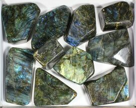Wholesale Lot: 20 Lbs Free-Standing Polished Labradorite - 10 Pieces For Sale, #77654