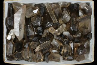 "Wholesale Lot: 23 Lbs Smoky Quartz Crystals (2-4"") - Brazil For Sale, #77828"