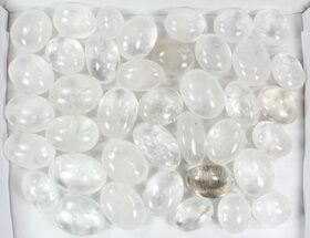 Wholesale Box: Polished Clear Quartz Pebbles - 5 kg (11 lbs) For Sale, #77924