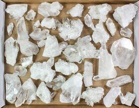 "Wholesale Lot: 10 Lbs Clear Quartz Crystal Clusters (2-4"") - Brazil For Sale, #78032"