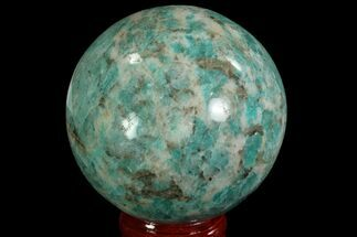 "2.3"" Polished Amazonite Crystal Sphere - Madagascar For Sale, #78731"