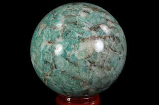 "2.4"" Polished Amazonite Crystal Sphere - Madagascar For Sale, #78752"