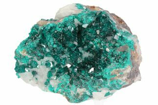 "2.15"" Gemmy, Green Dioptase Crystals On Quartz - Namibia For Sale, #78692"
