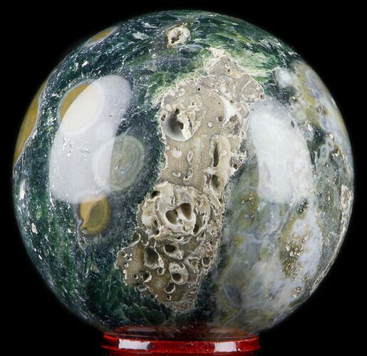 "2.3"" Unique Ocean Jasper Sphere - Madagascar"