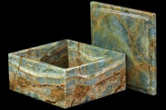 "6"" Wide Blue Calcite Jewelry Box  For Sale, #79211"