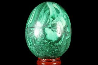 "Bargain, 2.7"" Polished Malachite Egg - Congo For Sale, #78920"