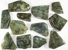 Buy Wholesale Lot: 25 Lbs Free-Standing Polished Labradorite - 12 Pieces - #78028