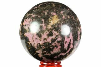 "3"" Beautiful, Polished Rhodonite Sphere - Madagascar For Sale, #78794"