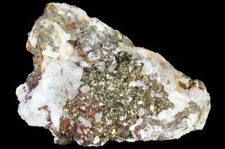"3.2"" Pyrite On Calcite - El Hammam Mine, Morocco For Sale, #80738"