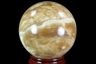 "3.4"" Polished, Brown Calcite Sphere - Madagascar For Sale, #81899"