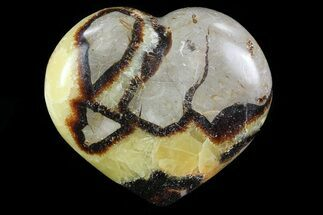 "Buy 3.5"" Polished Septarian Heart - Madagascar - #82051"