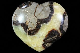 "3.1"" Polished Septarian Heart For Sale, #82040"