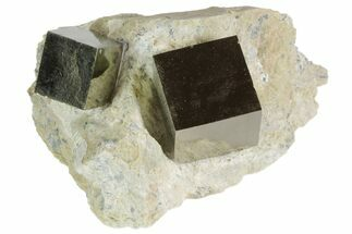 Buy Natural Pyrite Cubes In Rock From Spain - #82096