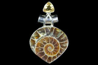 Buy Ammonite Fossil Pendant - Sterling Silver - #82234