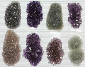 "Buy Wholesale Lot: Amethyst & Quartz ""Rosettes"" - 8 Pieces - #82606"