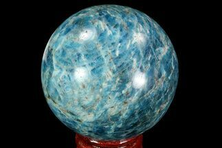 "Buy 2.25"" Bright Blue Apatite Sphere - Madagascar - #83077"