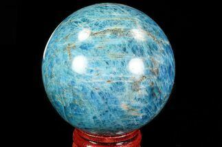 "2.25"" Bright Blue Apatite Sphere - Madagascar For Sale, #83087"