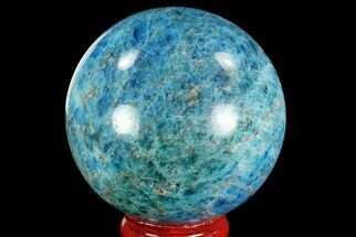 "2.2"" Bright Blue Apatite Sphere - Madagascar For Sale, #83369"
