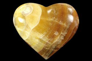 "Buy 3"" Carved & Polished Banded Fluorite Heart - Argentina - #84184"