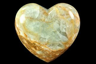 "Buy 3.7"" Carved & Polished Blue Calcite Heart - Argentina - #84160"