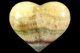 "3"" Carved & Polished Banded Fluorite Heart - Argentina For Sale, #84188"