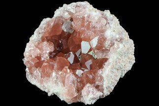 Quartz var. Pink Amethyst & Calcite - Fossils For Sale - #84504