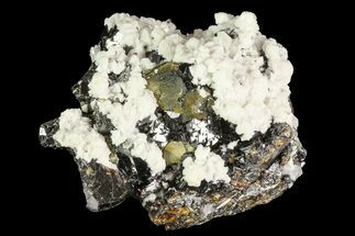 Quartz, Calcite, Pyrite & Sphalerite - Fossils For Sale - #84813