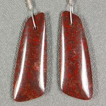 Gorgeous Agatized Dinosaur Bone (Gembone) Earrings  For Sale, #54090
