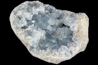 "Buy 7"" Blue Celestite Crystal Crystal Geode - Madagascar - #87136"