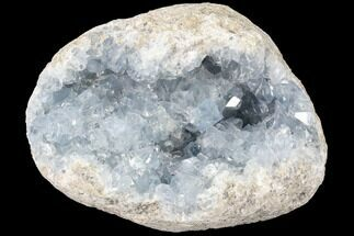"5.5"" Blue Celestite Crystal Geode - Madagascar For Sale, #87131"