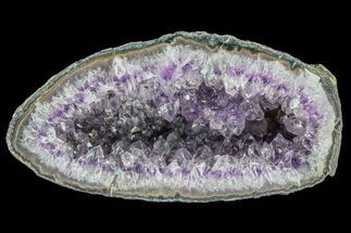 "6.5"" Purple Amethyst Geode - Uruguay For Sale, #87410"