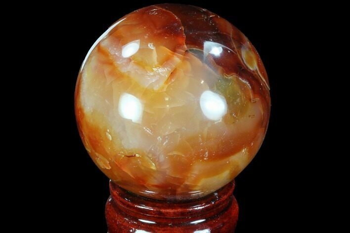 "2.25"" Colorful Carnelian Agate Sphere"