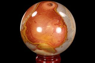 "3.3"" Polished Polychrome Jasper Sphere - Madagascar For Sale, #88553"