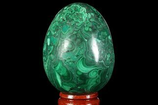 "Buy Stunning 2.2"" Polished Malachite Egg - Congo - #89659"