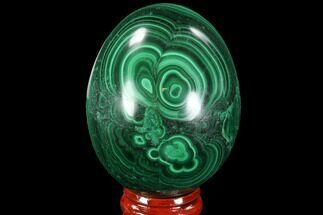 "Buy Stunning 2.35"" Polished Malachite Egg - Congo - #89680"