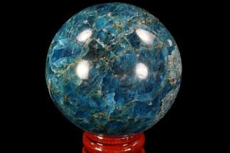 "2.1"" Bright Blue Apatite Sphere - Madagascar For Sale, #90188"
