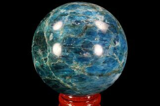 "2.15"" Bright Blue Apatite Sphere - Madagascar For Sale, #90191"